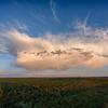 Thunderhead rainbow w- anticrepuscular rays