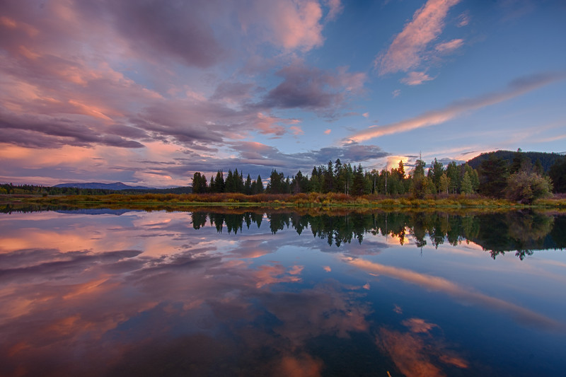 Oxbow Bend sunset reflections 5