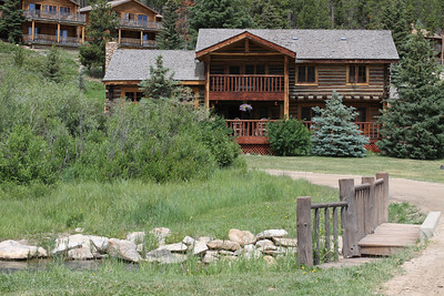 The Ranch. Saloon with Cabins behind
