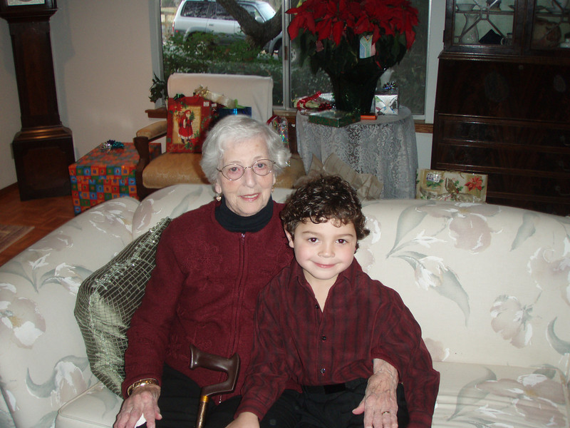 Great Grandma Belle and Max