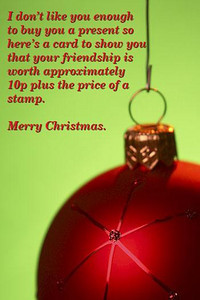 xmas card no friend