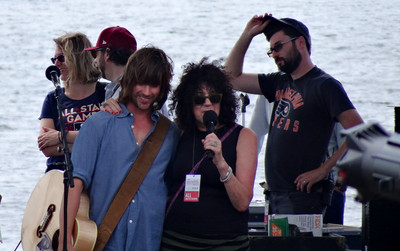 Old 97's on the River Stage, Michaela Majoun introducing