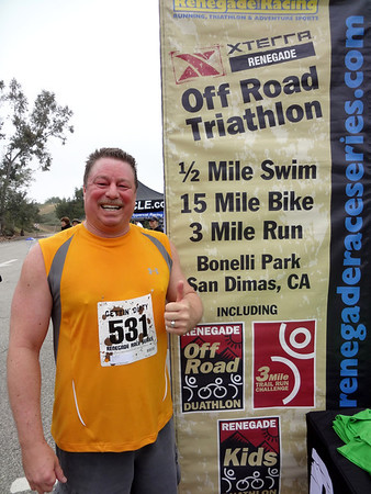 XTERRA Renegade Off Road Challenge 5K Run and Morton Peak Firetower Hike, San Dimas & Mentone CA March 31, 2012