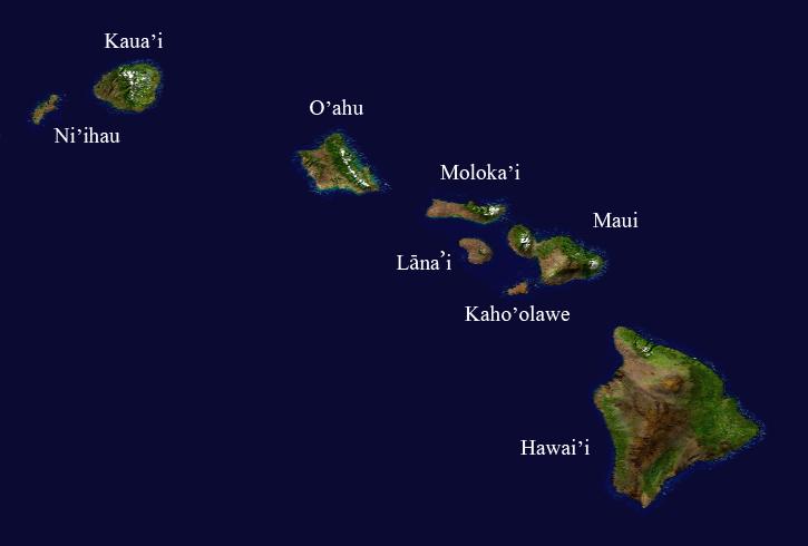 Hawaii-Islands-Map
