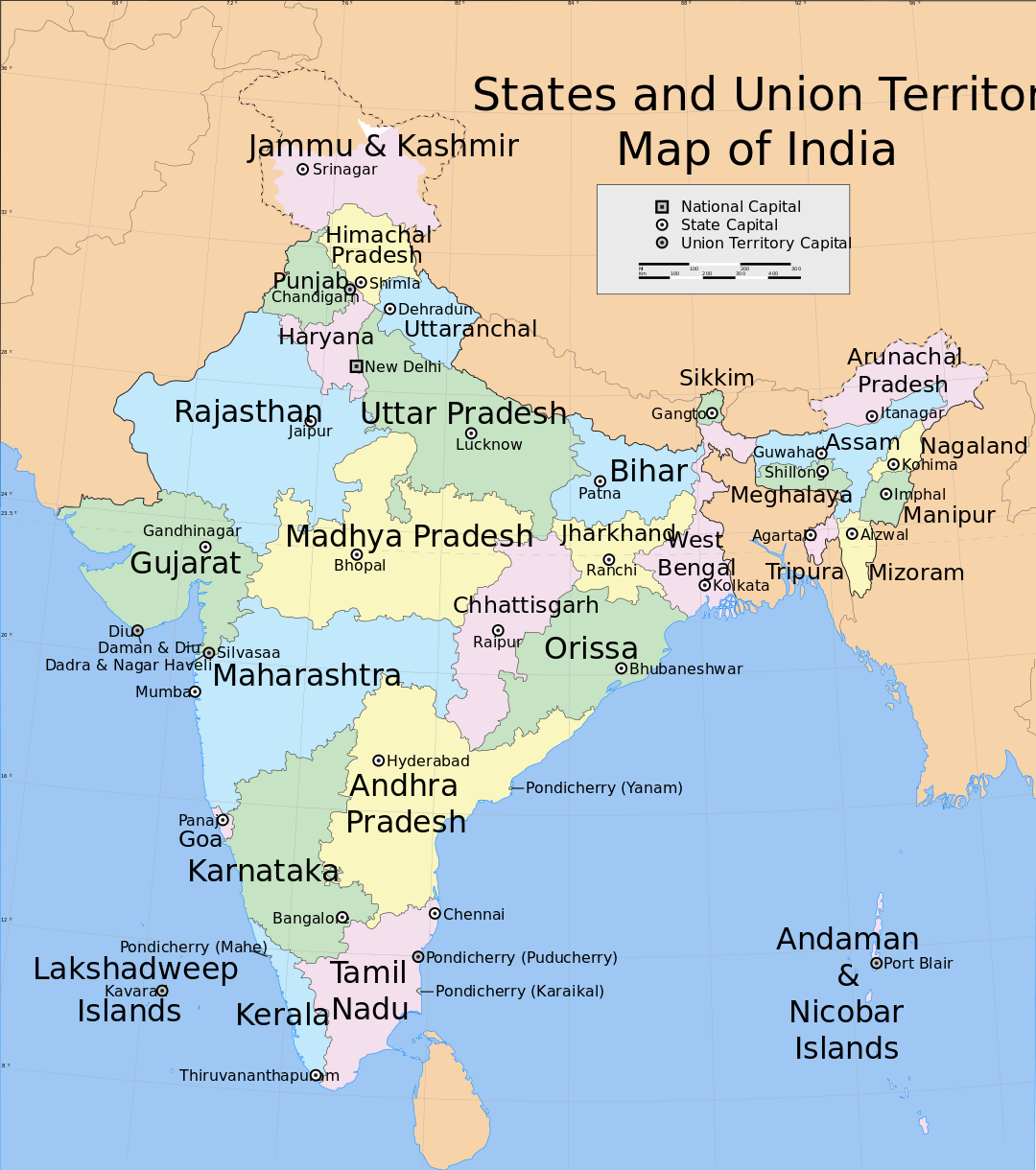India_states_and_union_territories_map