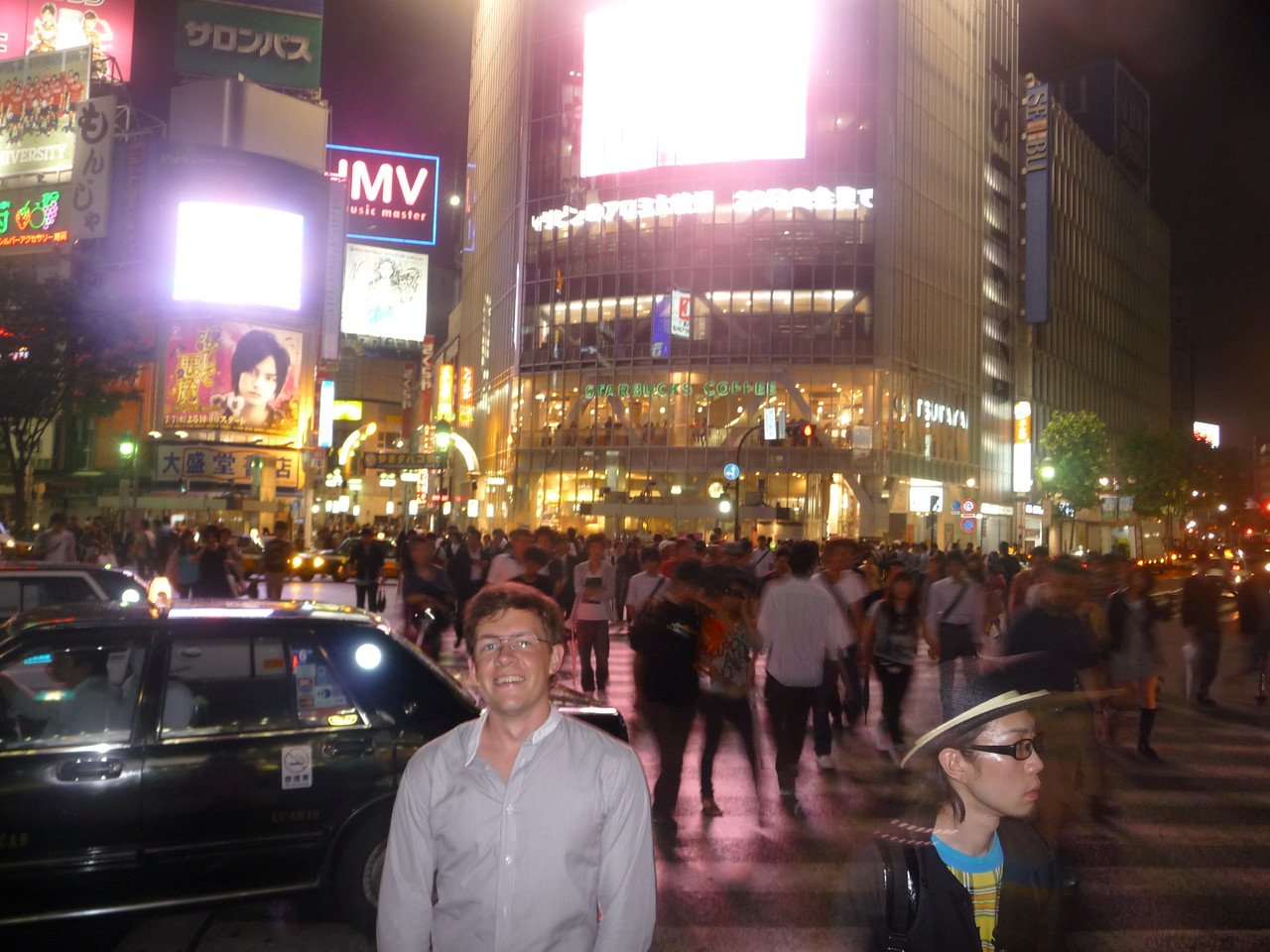 Scott in the famous Shibuya crossing in Tokyo last May.