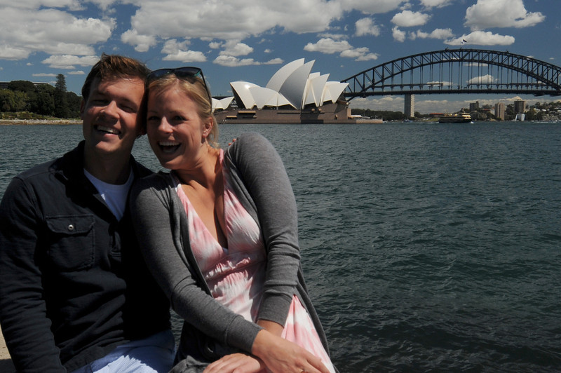 Scott and fellow LCC '02 classmate Chelsea in Sydney this September