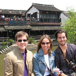 Scott, Randa and Kyle in Suzhou, outside Shanghai last April.