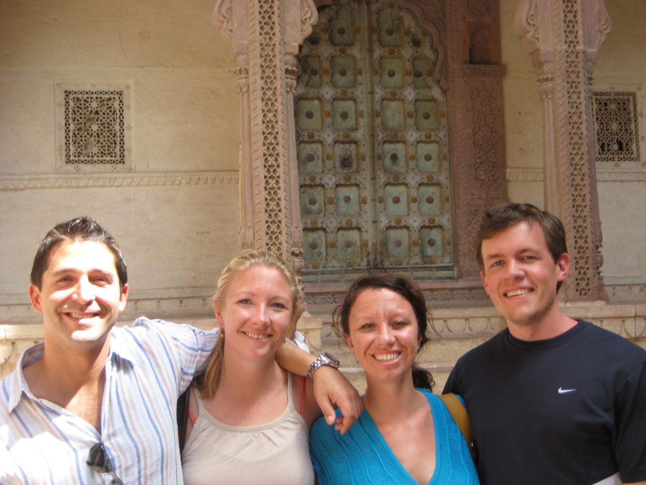 Brian, Detgen, Rochelle and Scott together at the Mehrangarh Fort in Jodhpur, India
