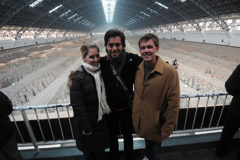 Cory, Kyle and Scott visiting the terracotta warriors in Xian, China last January.