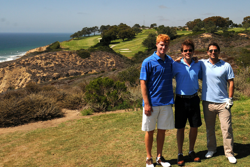 Duncan, Scott and Brian at Torrey Pines last August.