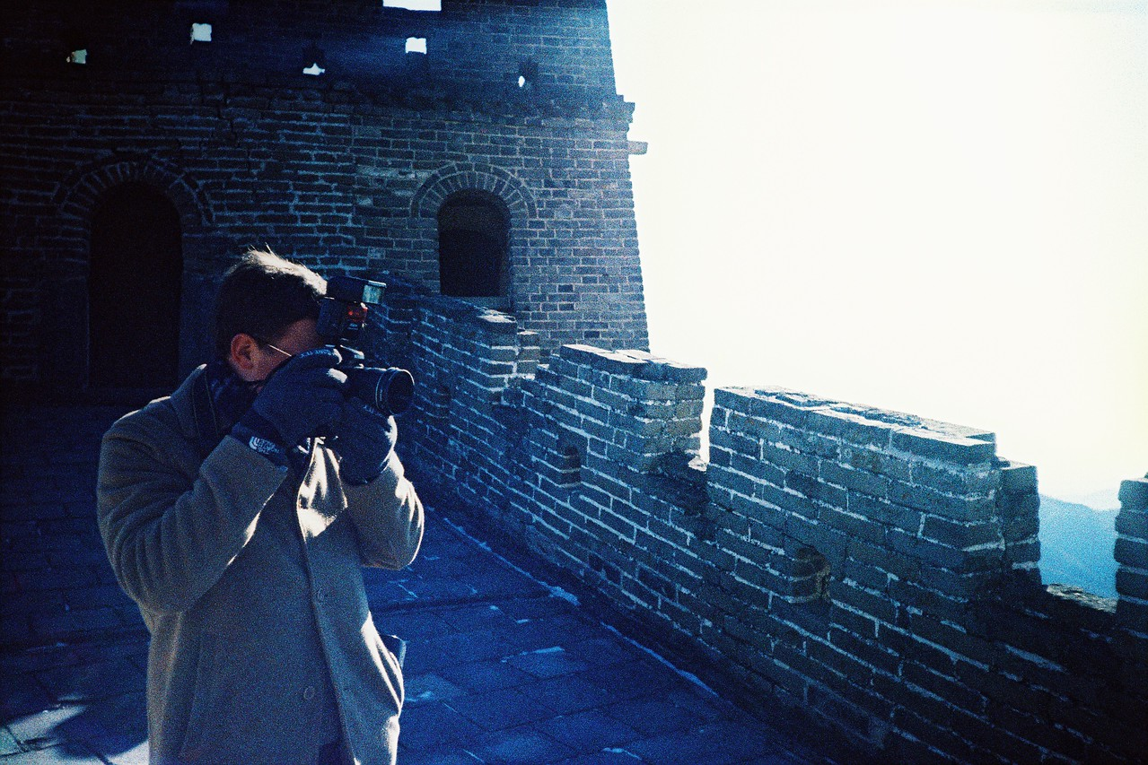 Scott on the Great Wall outside Beijing, China