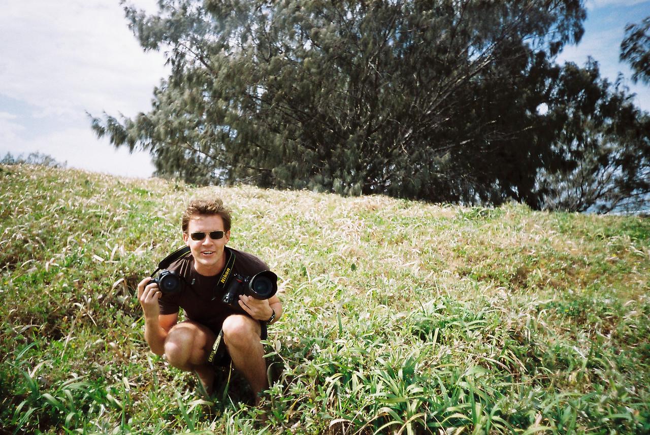 Scott on Fraser Island, Australia last September