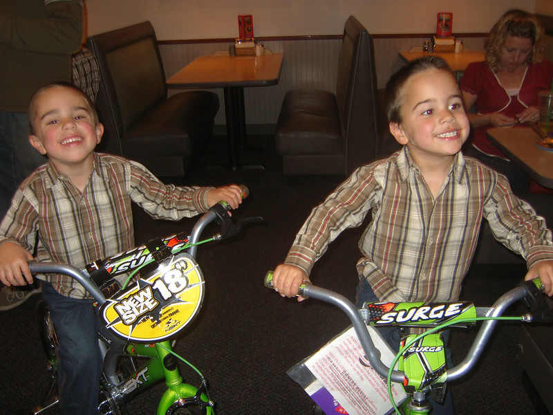 BACK AT THE PARTY NOW....THEY GOT BIKES...CAN YOU SAY ...  E...X...C...I...T...E...D...???