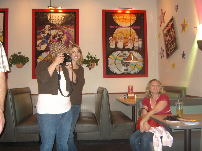 CARE'S GIRLFRIENDS AT THE PARTY....KERI V., HALLIE BEHIND THE CAMERA OF COURSE, AND LEXY (SITTING)