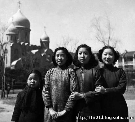 Antique Photo of Shanghai Girls