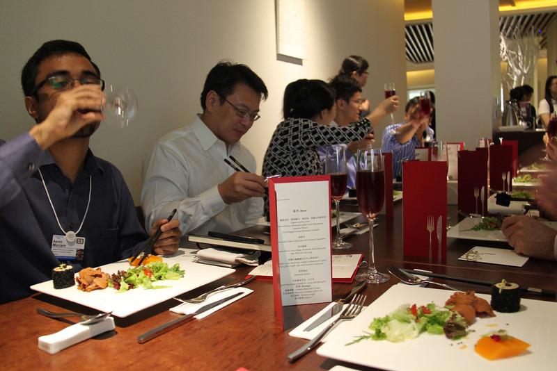 YGLs at Lunch at Wujie Restaurant, Bund 22