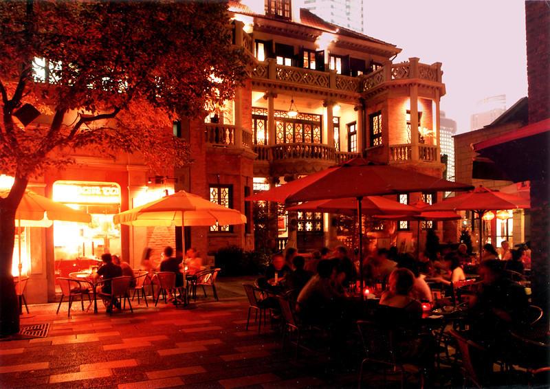 浪漫情怀的新天地之夜A Romantic Night at Xintiandi
