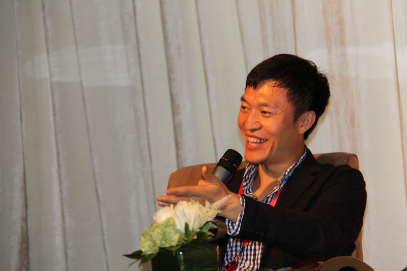 Discussion of social media at Three on the Bund with Isaac Mao