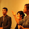 Peggy Liu, YGL and Mr Sung, Wujie, with translation by Kim Wong, Wujie at 22 Art Center in Bund 22