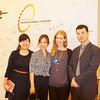 Peggy Liu, JUCCCE President with Wu Jie's creator Yuan Bo Song, Kim Wong, and Katherine,WEF. 聚思中国的刘佩琦主席和无界的创始人,宋渊博以及全球青年领袖无界餐厅。