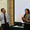 Vice Dean Hai Shan Jiang and Peggy Liu, JUCCCE President
