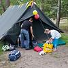 Een van de meiden tenten.