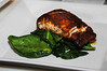 Blackened Grouper and spinach