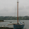 Lugger tied up outside The Pandora Inn, Mylor.