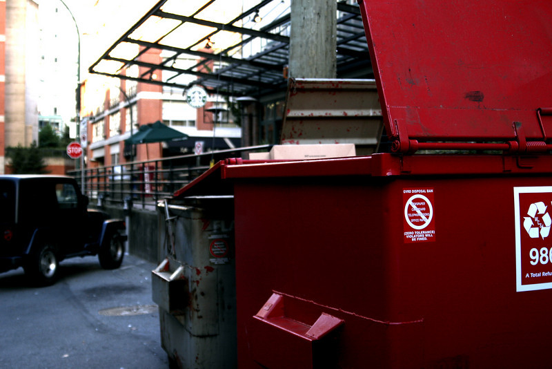 Dumpster in Yaletown