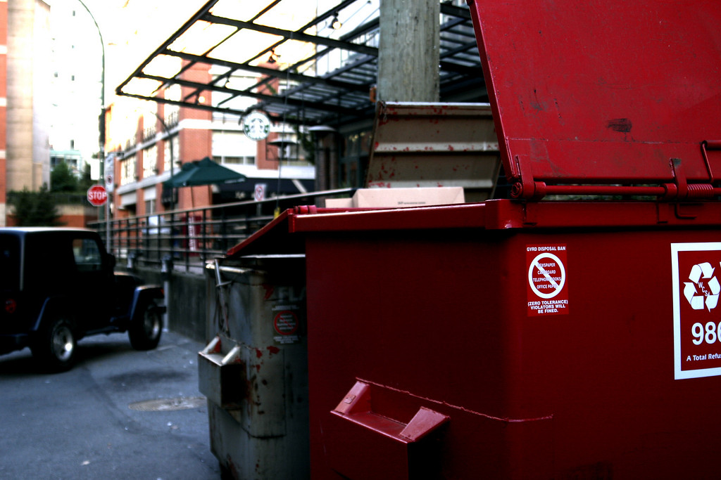 Dumpster in Yaletown