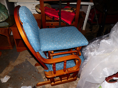 Chair and foot stool rocker $8