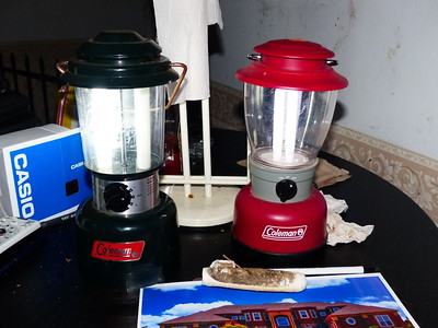 Coleman Lantern.  Both cost $3 each.