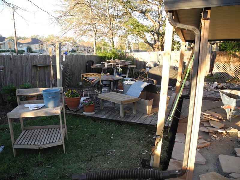The process took a while, and was creating quite a mess in the backyard