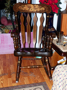 Rocking chair.  Pretty good one and very solid.  Paid $30.  Tried to get it for less, but the owner would not budge.