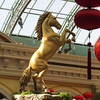 The gold stallion is 15 feet tall.