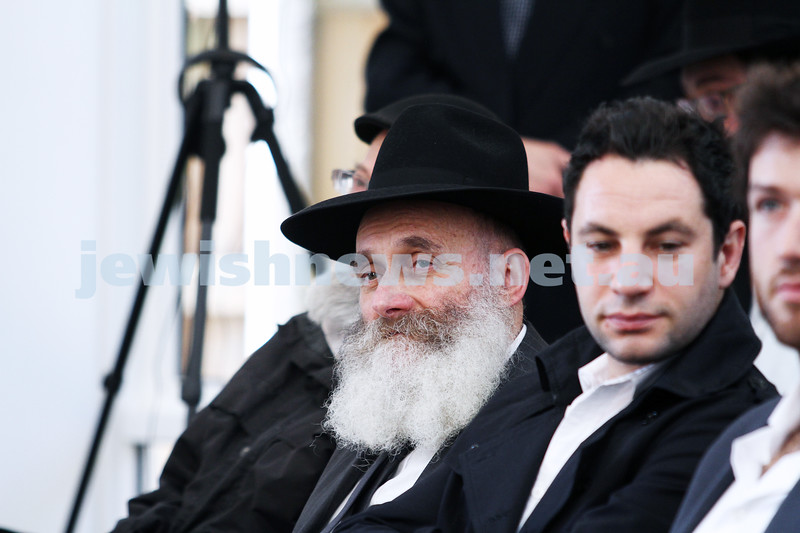 2-6-13. Dedication of the F.R.E.E synagogue. The Yehuda Dadon Synagogue. Jewish Russian Community Centre, Chabad on Carlisle. Rabbi Chaim Gorelik. Photo: Peter Haskin