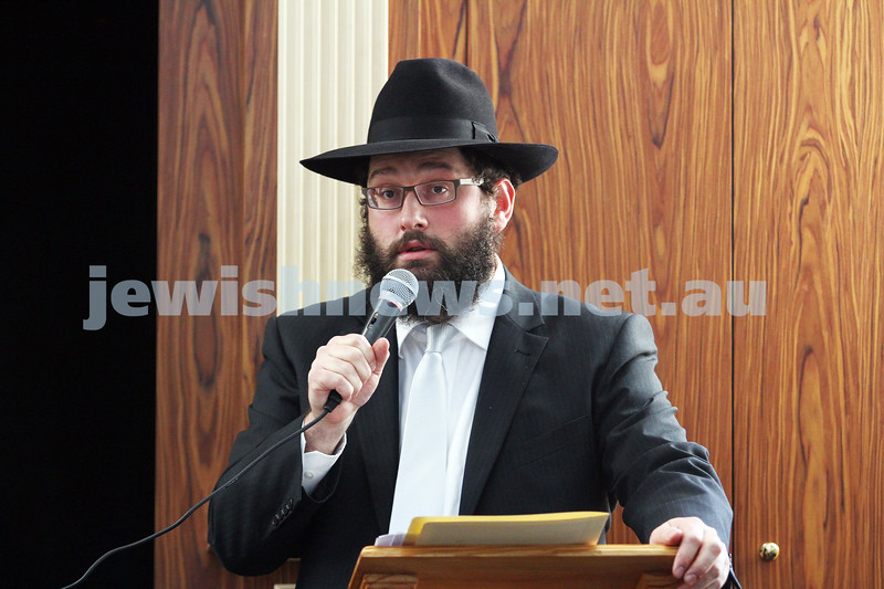 2-6-13. Dedication of the F.R.E.E synagogue. The Yehuda Dadon Synagogue. Jewish Russian Community Centre, Chabad on Carlisle. Photo: Peter Haskin