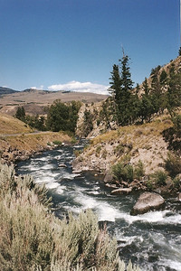 Gardner River between Mammoth Hot Springs and Gardner MT