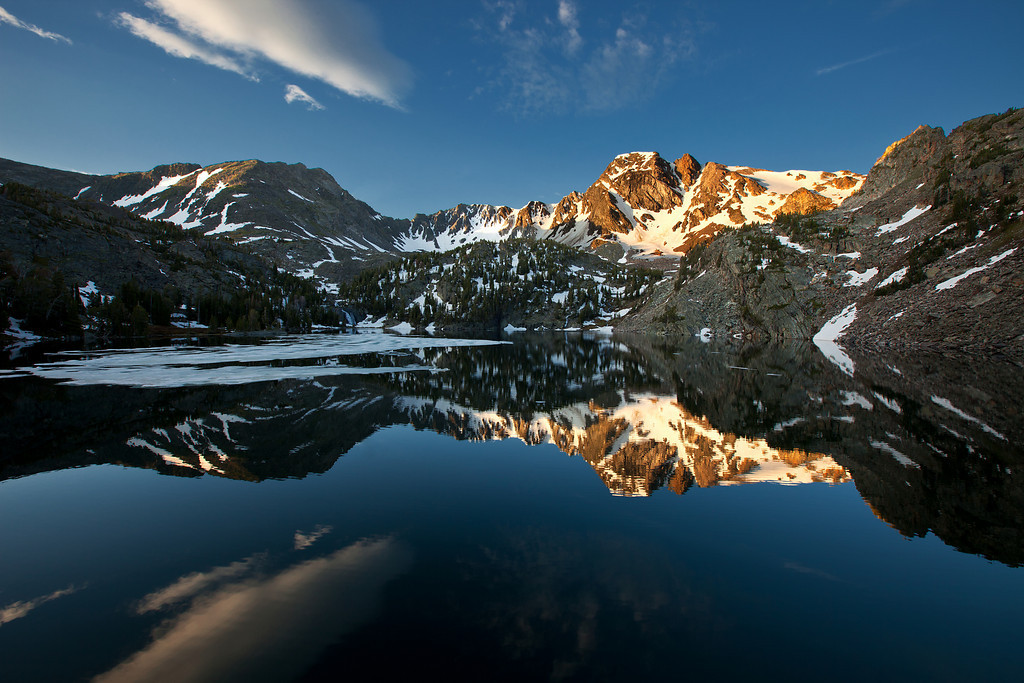 Lake Reflections - Pine Creek Lake<br /> Absaroka-Beartooth Wilderness, Montana