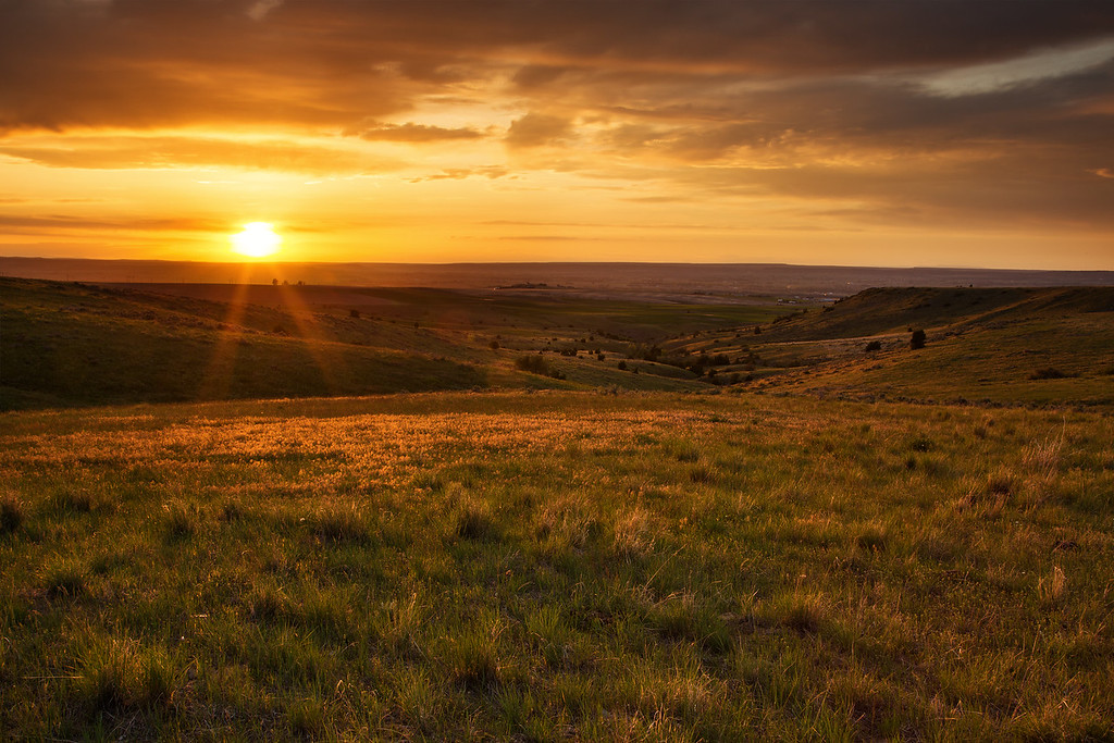 Sunset on the Montana Prairie south of Billings