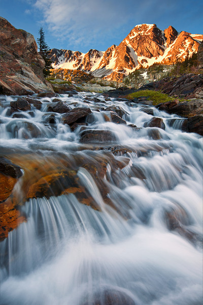 Falls Between Pine Creek Lake and Jewel Lake, Absaroka-Beartooth Wilderness, MT