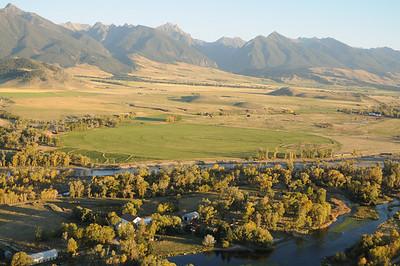 DePuy Spring Creek Livingston Montana Aerial Photograph