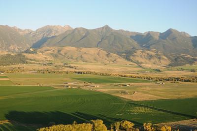 Paradise Valley Montana Aerial Photography of Montana Ranch and Absaroka Beartooth Mountains