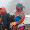 Two women rugged up against the cold in Sapa, Vietnam in January 2012