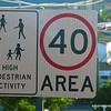 A high pedestrian activity sign at Yamba, February 2012