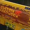 Custom R Paintworx sign on a ute in Yamba, February 2012