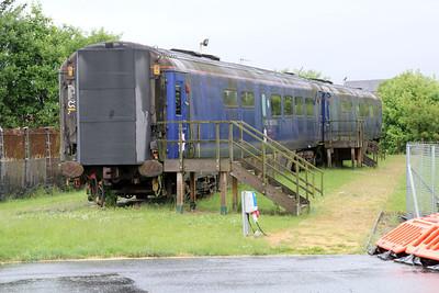 MK3 Coaches 10256 & 10260 out the back of Yoker EMU Depot 22/06/13.