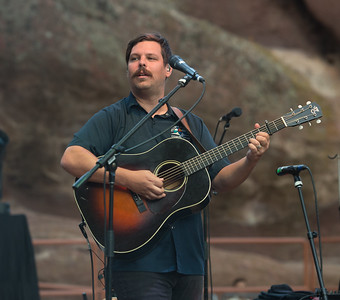 Dave Bruzza of Greensky Bluegrass plays Red Rocks on August 21, 2015. Photos by Candace Horgan, heyreverb.com.