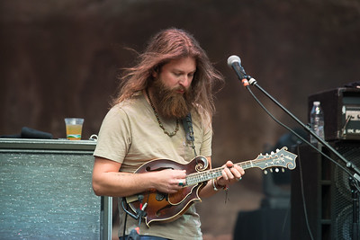 Paul Hoffman of Greensky Bluegrass plays Red Rocks on August 21, 2015. Photos by Candace Horgan, heyreverb.com.